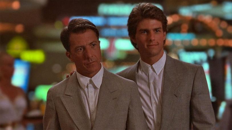 Il premio Oscar Dustin Hoffman e Tom Cruise