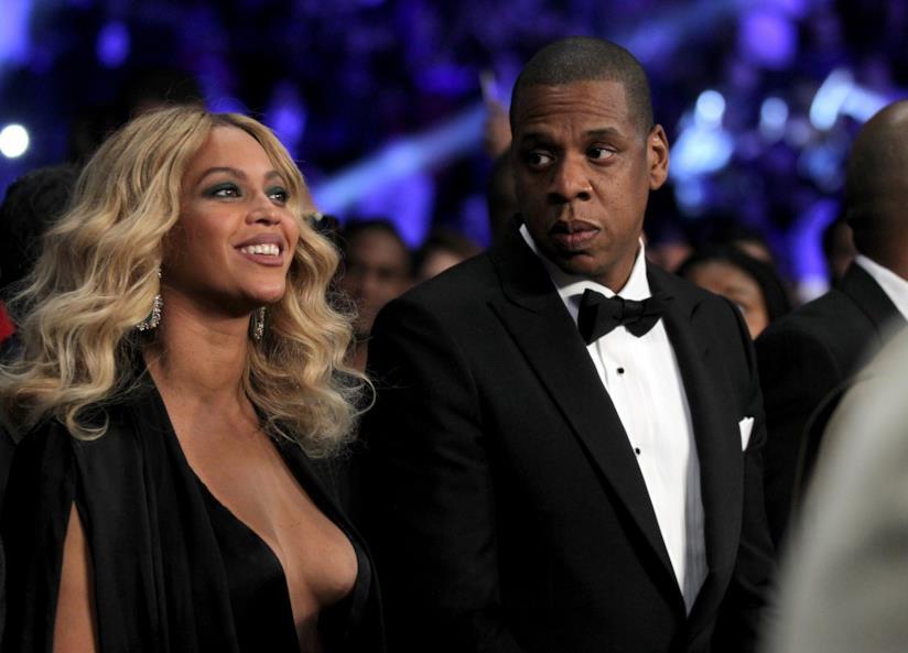 Primo piano di Beyoncé e Jay-Z