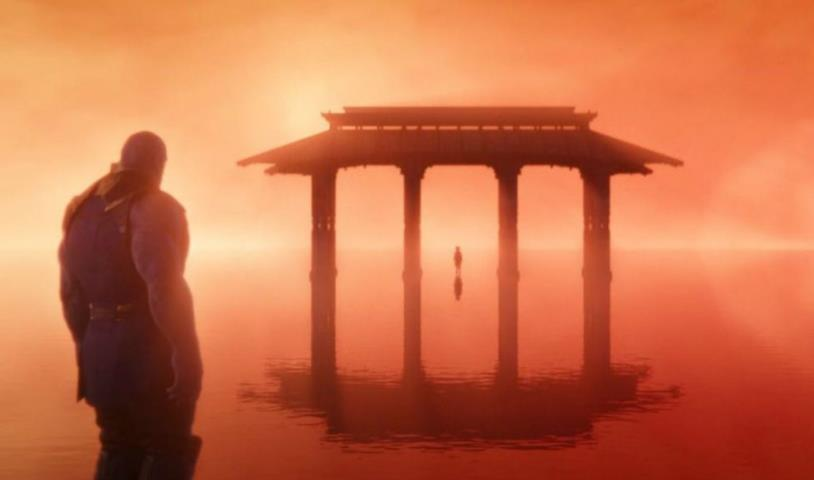 Thanos incontra la versione giovane di sua figlia Gamora dopo lo schiocco