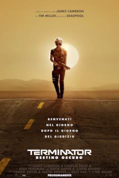 Sarah Connor sul poster italiano di Terminator - Destino oscuro