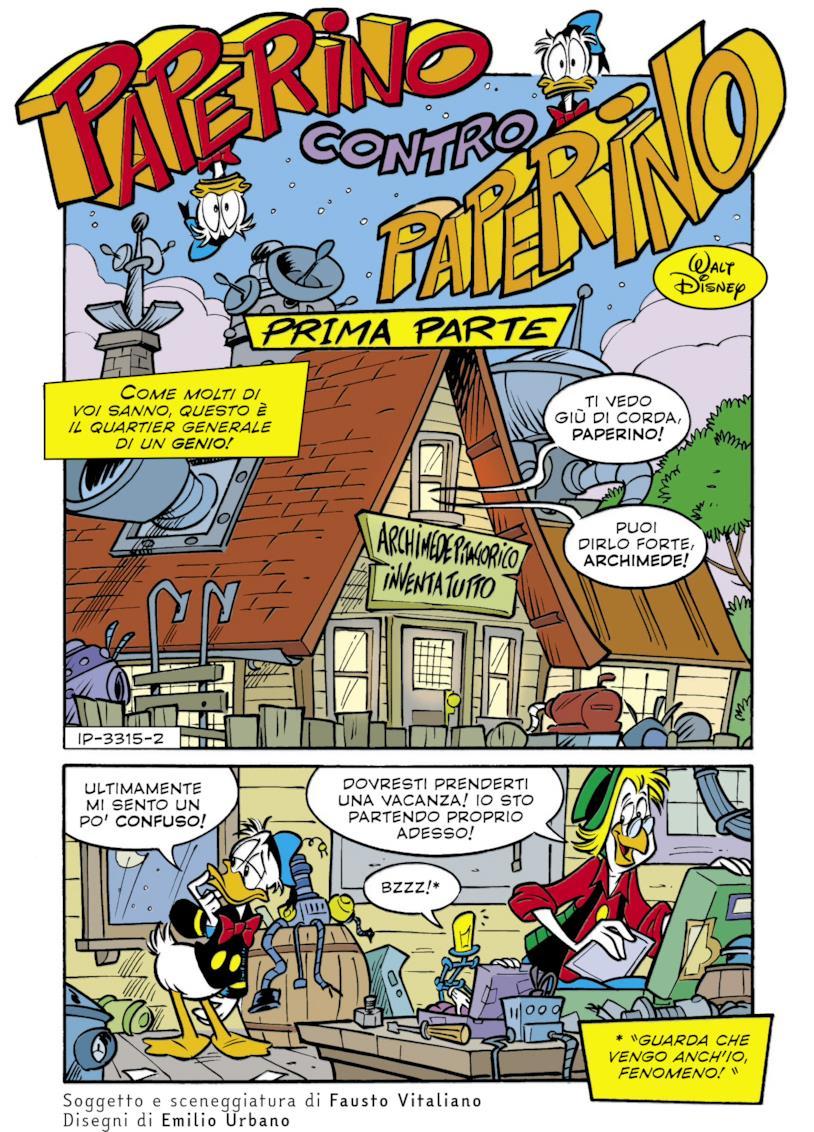 Paperino contro Paperino dal numero speciale di Topolino per gli 85 anni di Paperino