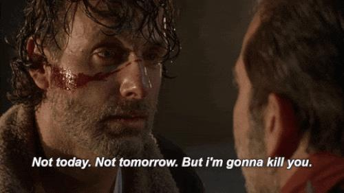 Rick promette vendetta nei confronti di Negan