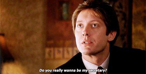Una scena di Secretary