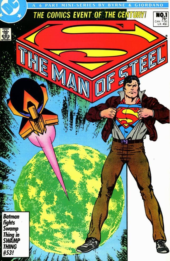 Copertina del #1 della miniserie The Man of Steel