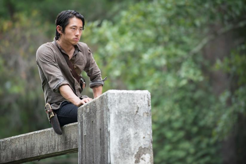 L'attore Steven Yeun in The Walking Dead