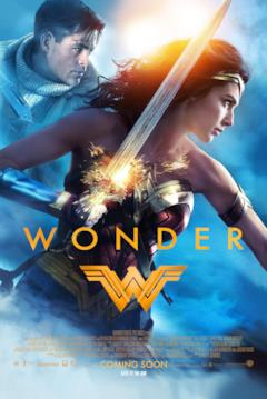 Diana e Steve Trevor nel poster di Wonder Woman