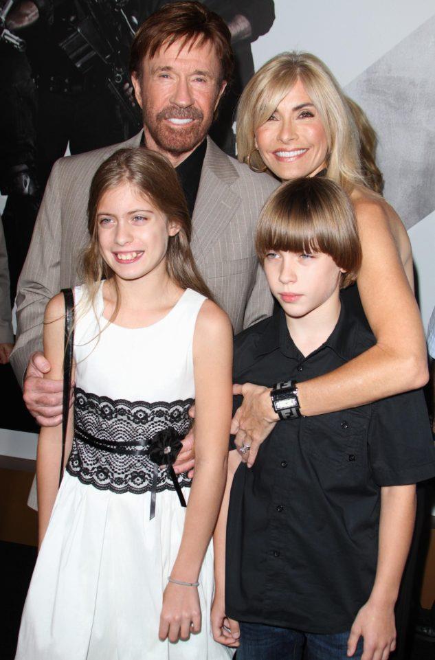 La famiglia di Chuck Norris