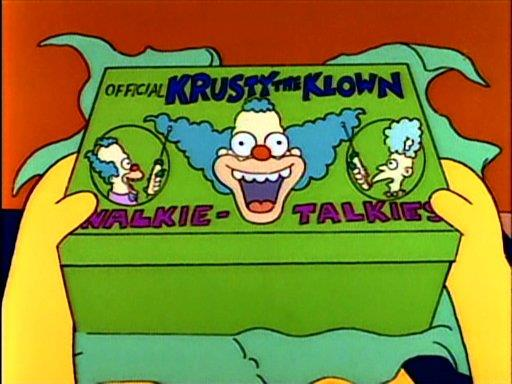 I Walkie Talkies di Krusty il Clown