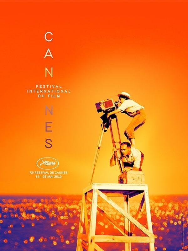 Agnès Varda mentre gira La pointe courte nel poster ufficiale di Cannes 2019