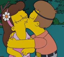 Homer e Marge si baciano appassionatamente