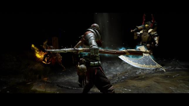 Kratos pronto all'azione in uno scatto da God of War