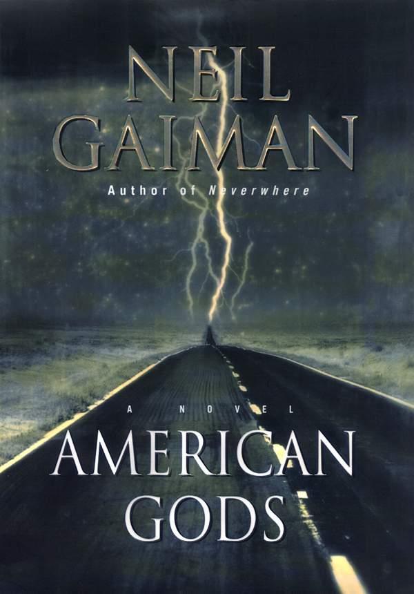 La copertina del romanzo American Gods scritto da Neil Gaiman