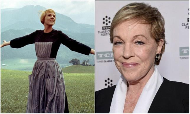 Collage con Julie Andrews in Tutti insieme appassionatamente e nel 2018