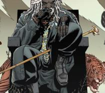 Un'immagine del fumetto di The Walking Dead con Ezekiel