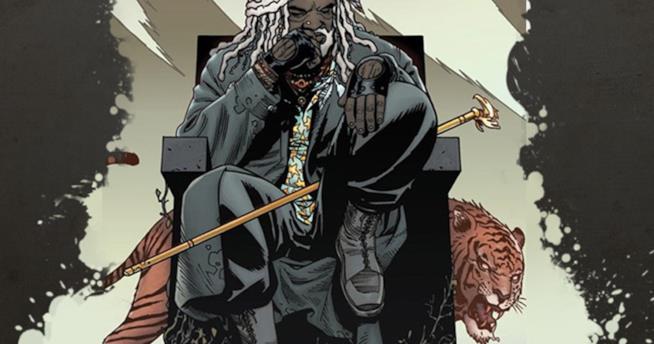Un'immagine del fumetto di The Walking Dead con Ezekiel
