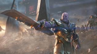 Thanos durante la battaglia finale di Avengers: Endgame