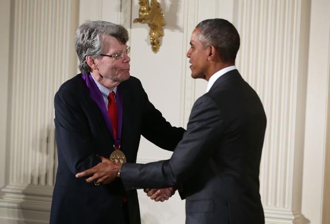 Stephen King col presidente Obama