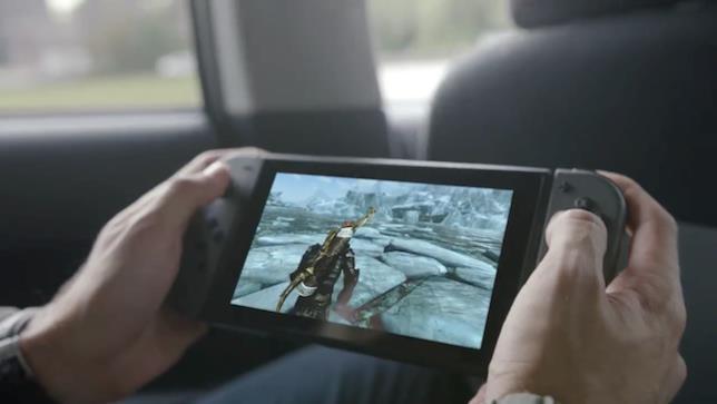 La console in funzione dentro un'automobile
