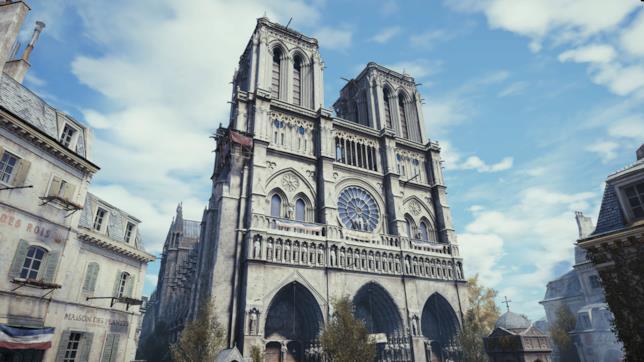 Notre Dame, riprodotta da Ubisoft in Assassin's Creed Unity