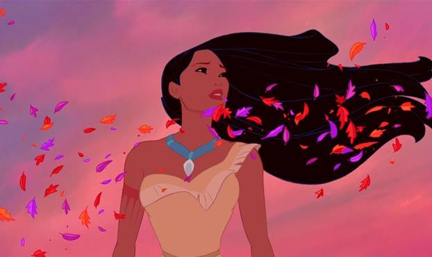 Pocahontas travolta da un vento di piume