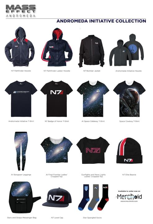 Alcune T-Shirt a tema Mass Effect