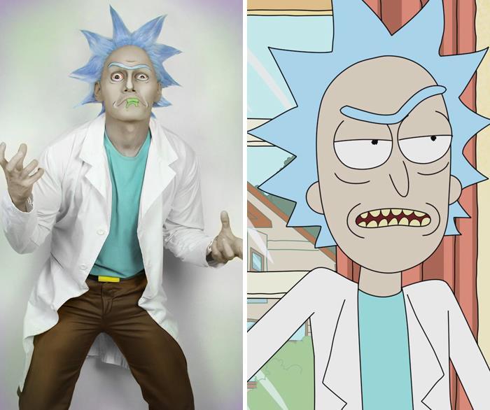 J Stryker si è trasfromato in Rick di Rick & Morty