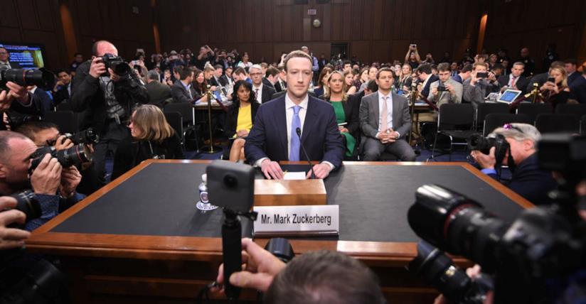 Mark Zuckerberg al Congresso degli Stati Uniti