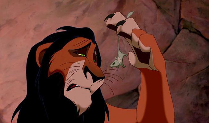 Scar in una scena del Classico Disney