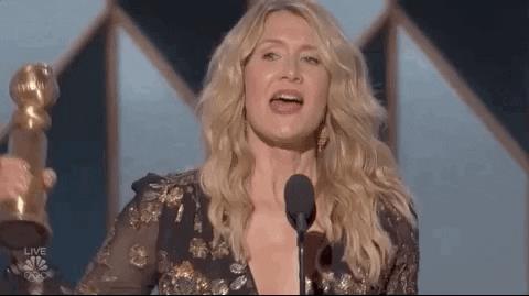 Laura Dern ai Golden Globes