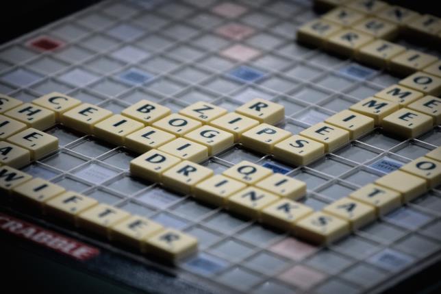 Un'immagine simbolo del gioco di parole Scrabble
