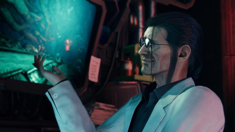 Hojo in un'immagine di Final Fantasy VII Remake