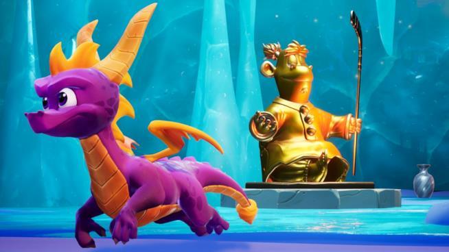 Spyro nel livello Colossus di Spyro 2 in Spyro: Reignited Trilogy