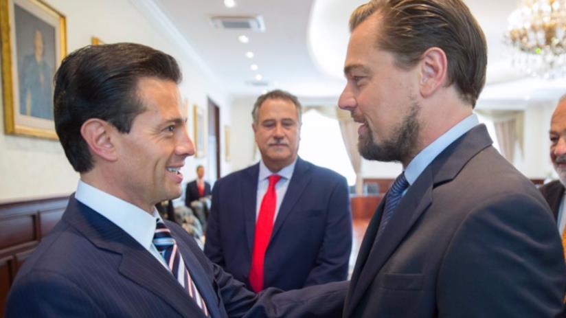 Leonardo DiCaprio incontra il presidente Nieto