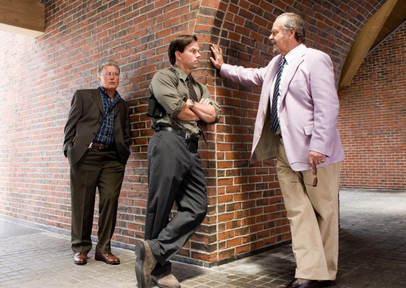 Martin Sheen, Mark Wahlberg e Jack Nicholson sul set del film