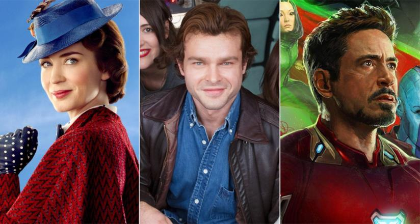 Mary Poppins 2, Solo: A Star Wars Story, Avengers: Infinity War