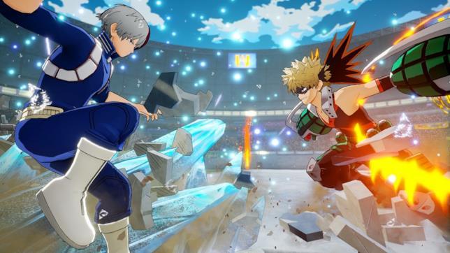 Todoroki e Bakugo my hero academia