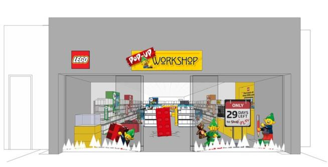 Dettagli di un pop-up Store LEGO