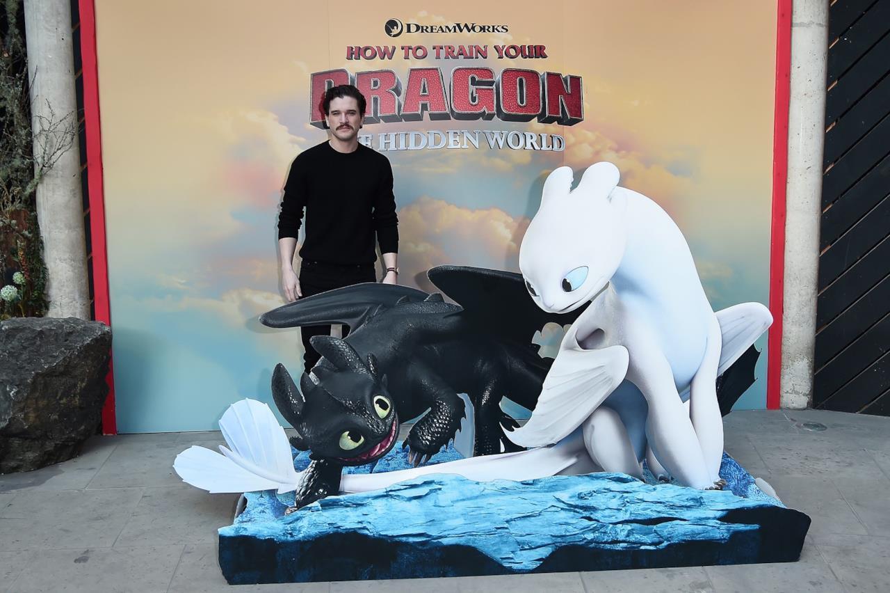 Kit Harington alla premiere di Dragon Trainer 3 a Londra