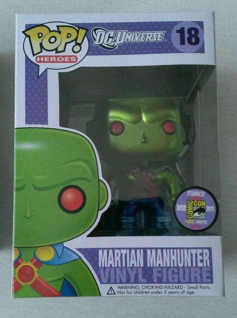 Funko Pop di Martian Manhunter (Metallic)