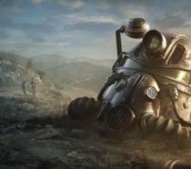 Un casco abbandonato nelle lande di Fallout 76