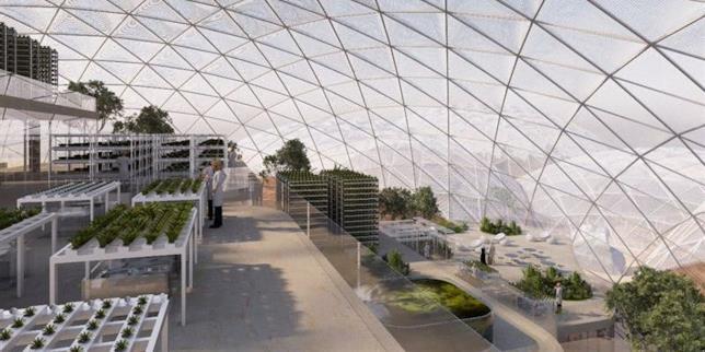 La sofisticata struttura a Dubai