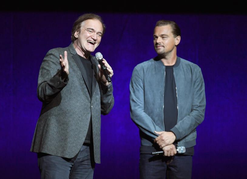 Quentin Tarantino al Cinemacon insieme a Leonardo DiCaprio