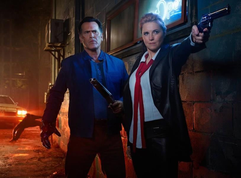 Lucy Lawless e Bruce Campbell