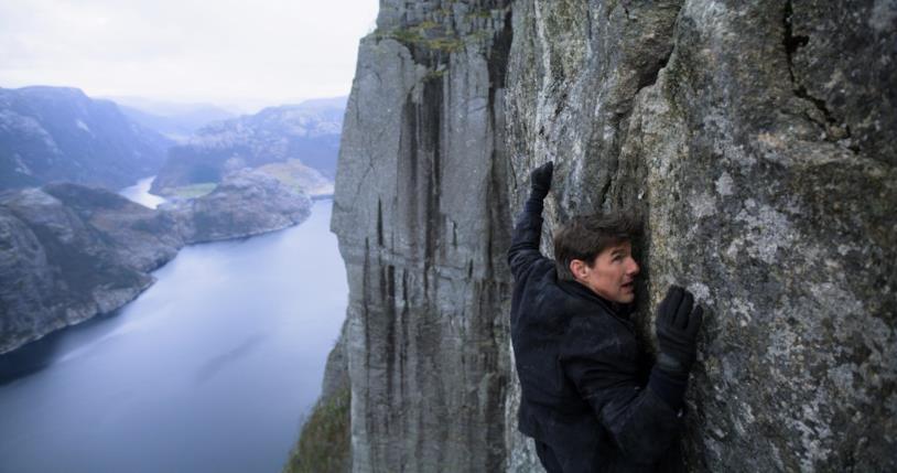 Tom Cruise in una scena di Mission: Impossibile - Fallout