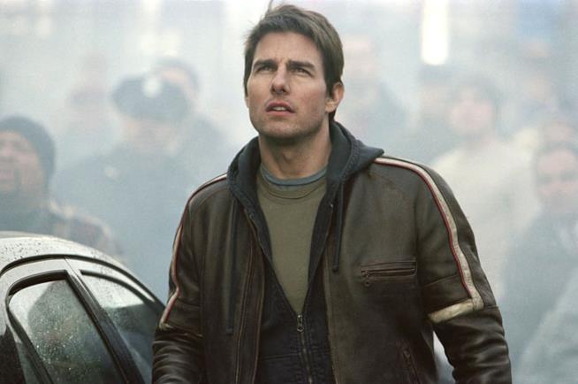 Tom Cruise nel film La Guerra dei Mondi