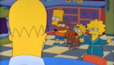 Il cane di Bart è un disastro a scuola