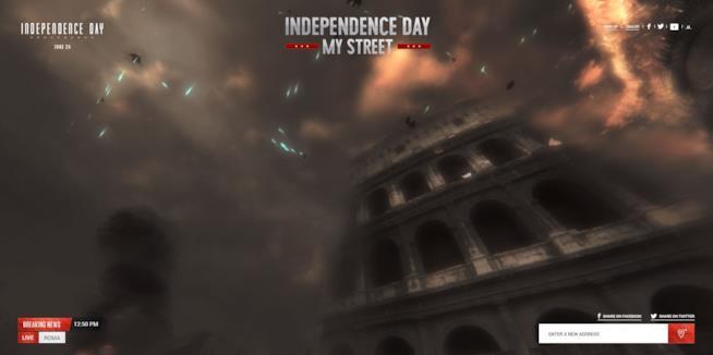 Gli alieni di Independence Day devastano il Colosseo