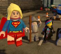 Supergirl assieme agli altri protagonisti di LEGO Dimensions