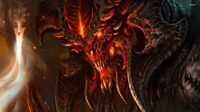 Immagine in CGI di Diablo, protagonista negativo del videogame