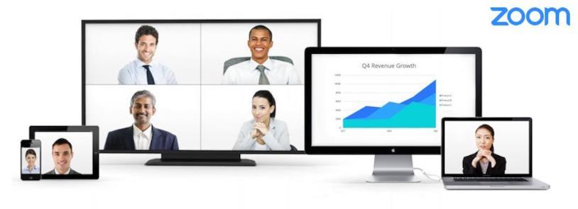Immagine promozionale del software Zoom per le videoconferenze